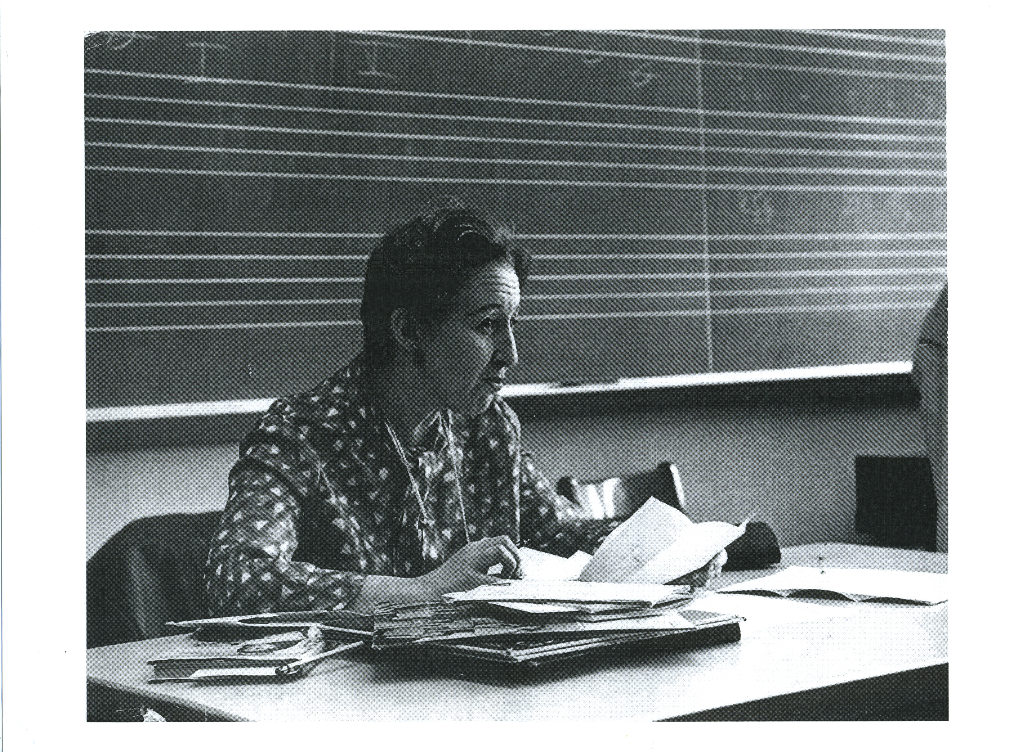 Henrietta Yurchenco teaching at City College 1970's