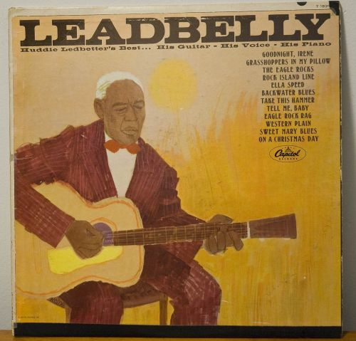 Leadbelly Capitol Records with zither, etc. photo by E. Gomez