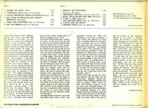 Big Bill Broonzy Live in Copenhagen 1956 Notes